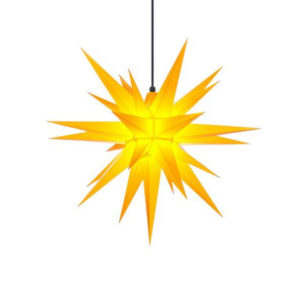stern a7 kunststoff gelb 68cm von herrnhuter bei erkmann. Black Bedroom Furniture Sets. Home Design Ideas