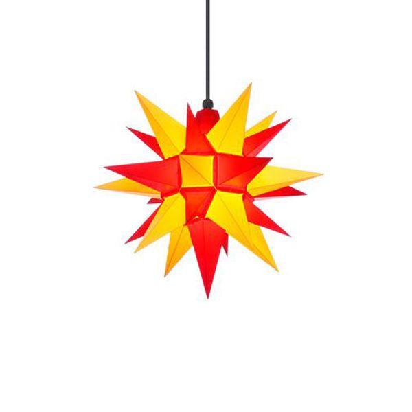 stern a4 kunststoff gelb rot 40cm von herrnhuter bei erkmann. Black Bedroom Furniture Sets. Home Design Ideas