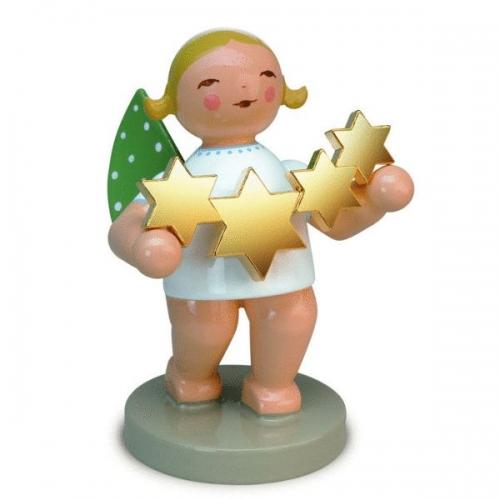 Grünhainicher Engel grünhainicher engel mit vergoldeten sternen bei erkmann