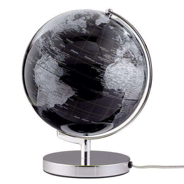 globus terra mit beleuchtung schwarz von emform. Black Bedroom Furniture Sets. Home Design Ideas