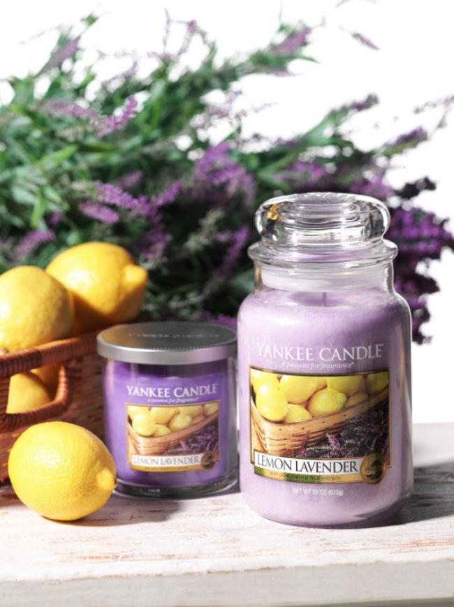 duftkerze lemon lavender 623g von yankee candle. Black Bedroom Furniture Sets. Home Design Ideas