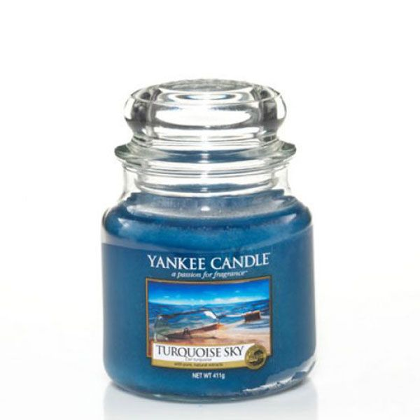 duftkerze turquoise sky 411g von yankee candle. Black Bedroom Furniture Sets. Home Design Ideas