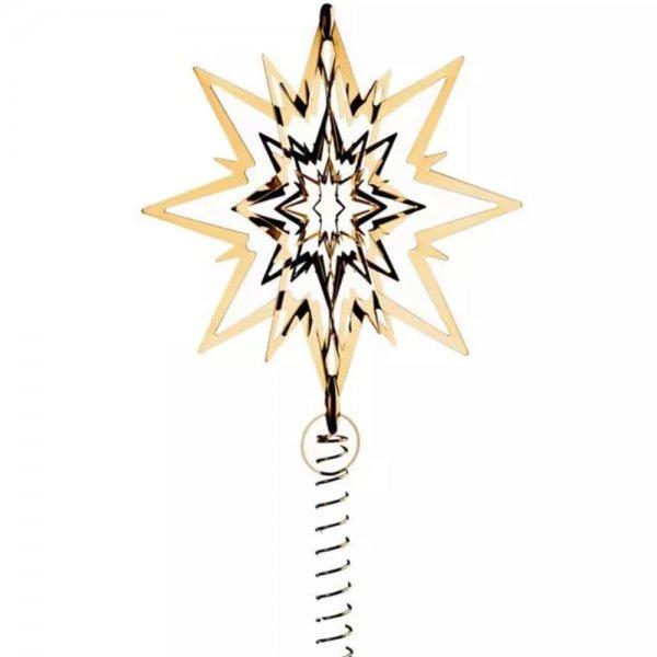 georg jensen weihnachtsbaumspitze top star gold 23cm. Black Bedroom Furniture Sets. Home Design Ideas