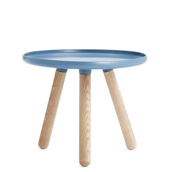 normann copenhagen couchtisch tablo table rund blau natur klein. Black Bedroom Furniture Sets. Home Design Ideas