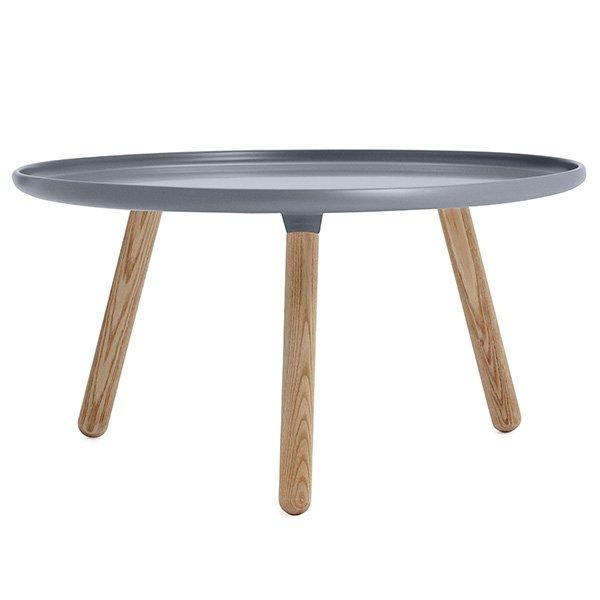 Normann copenhagen couchtisch tablo table rund grau natur gro for Couchtisch grau rund