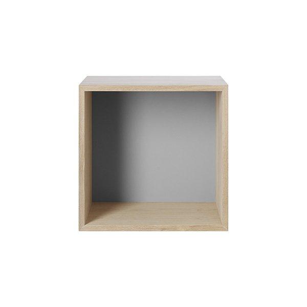 regal mini stacked grau mittel von muuto. Black Bedroom Furniture Sets. Home Design Ideas
