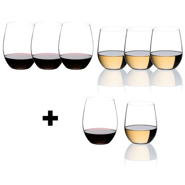 riedel gl ser geschenkset the o cabernet merlot und viognier chardonnay pay 6 get 8. Black Bedroom Furniture Sets. Home Design Ideas