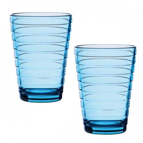 Iittala Gläser wasserglas saftglas glas aino aalto hellblau groß 2er set iittala