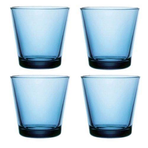 Iittala Gläser glas wasserglas saftglas kartio hellblau klein iittala bei erkmann