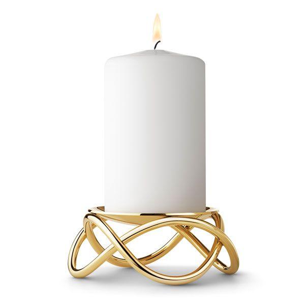 georg jensen kerzenhalter glow gold gro. Black Bedroom Furniture Sets. Home Design Ideas