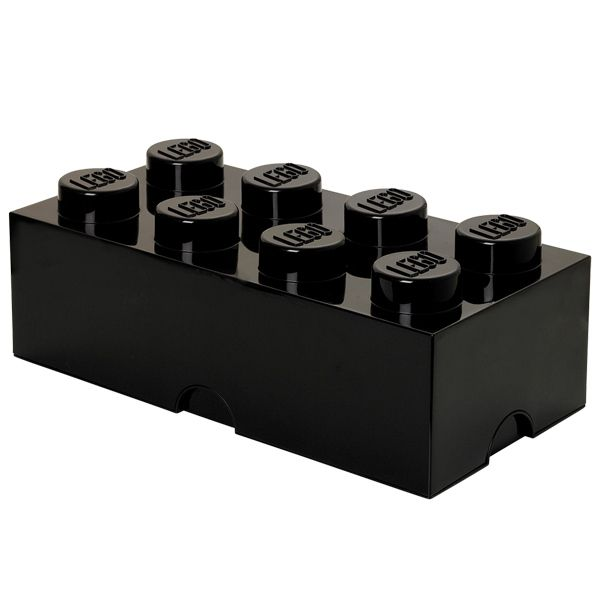 aufbewahrungsbox storage brick 8 schwarz von lego. Black Bedroom Furniture Sets. Home Design Ideas