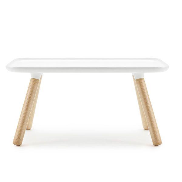 Couchtisch Tablo Table Rechteckig WeißNatur bei erkmann
