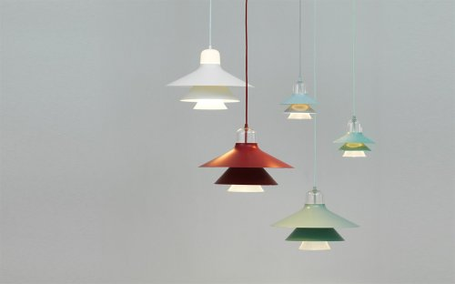 Normann Copenhagen Lampe Ikono Mint Groß