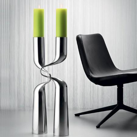 menu design kerzenst nder double silber xl. Black Bedroom Furniture Sets. Home Design Ideas