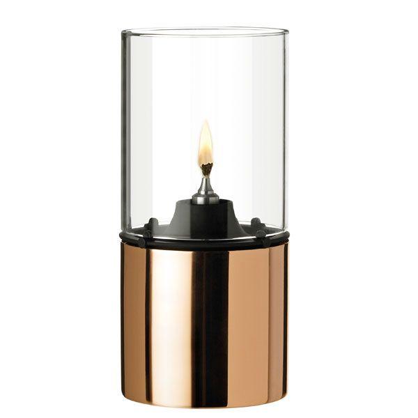 lampe kupfer mit glasschirm klar von stelton bei erkmann. Black Bedroom Furniture Sets. Home Design Ideas