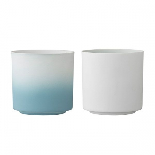 bloomingville teelichthalter wei himmelblau 2 teilig. Black Bedroom Furniture Sets. Home Design Ideas