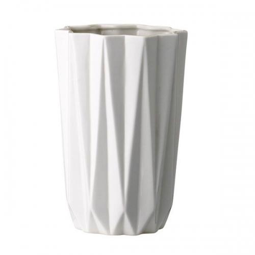 bloomingville vase gerade wei 20cm. Black Bedroom Furniture Sets. Home Design Ideas