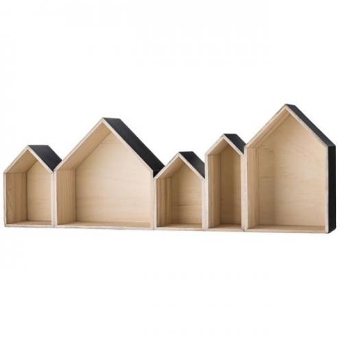 Regal Zum Aufhängen schaukasten regal häuserreihe schwarz außen bloomingville
