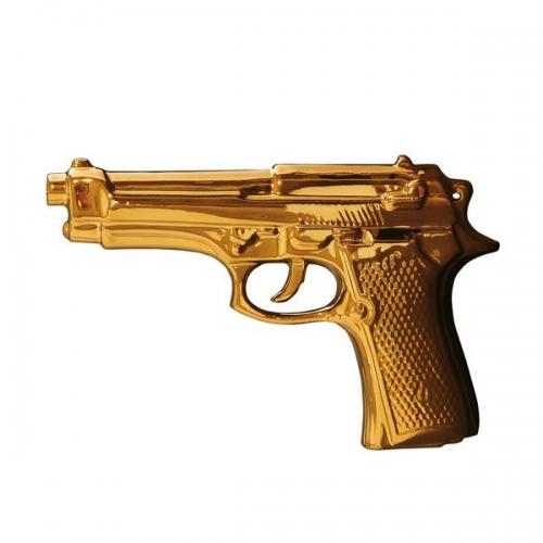 Seletti deko pistole memorabilia gold for Gold deko