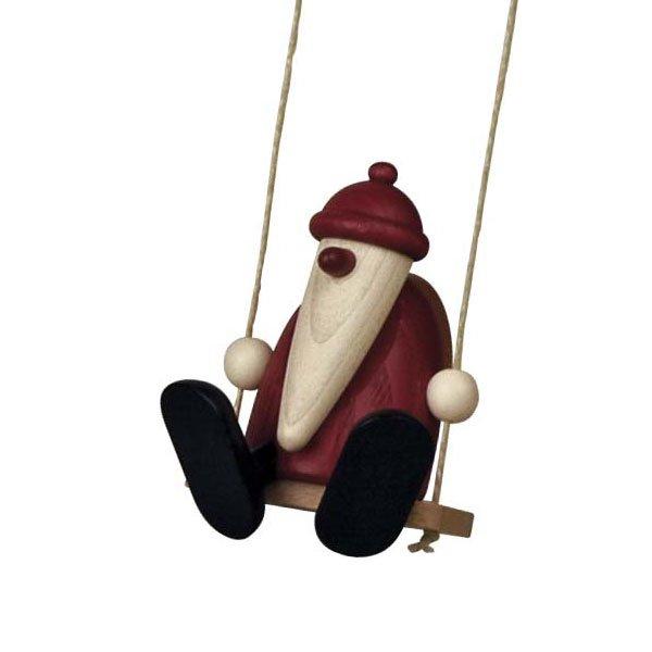 Weihnachtsmann auf Schaukel von Köhler Kunsthandwerk