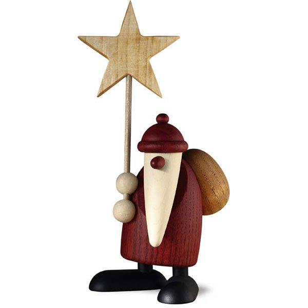 Weihnachtsmann mit Stern (9cm) von Köhler Kunsthandwerk