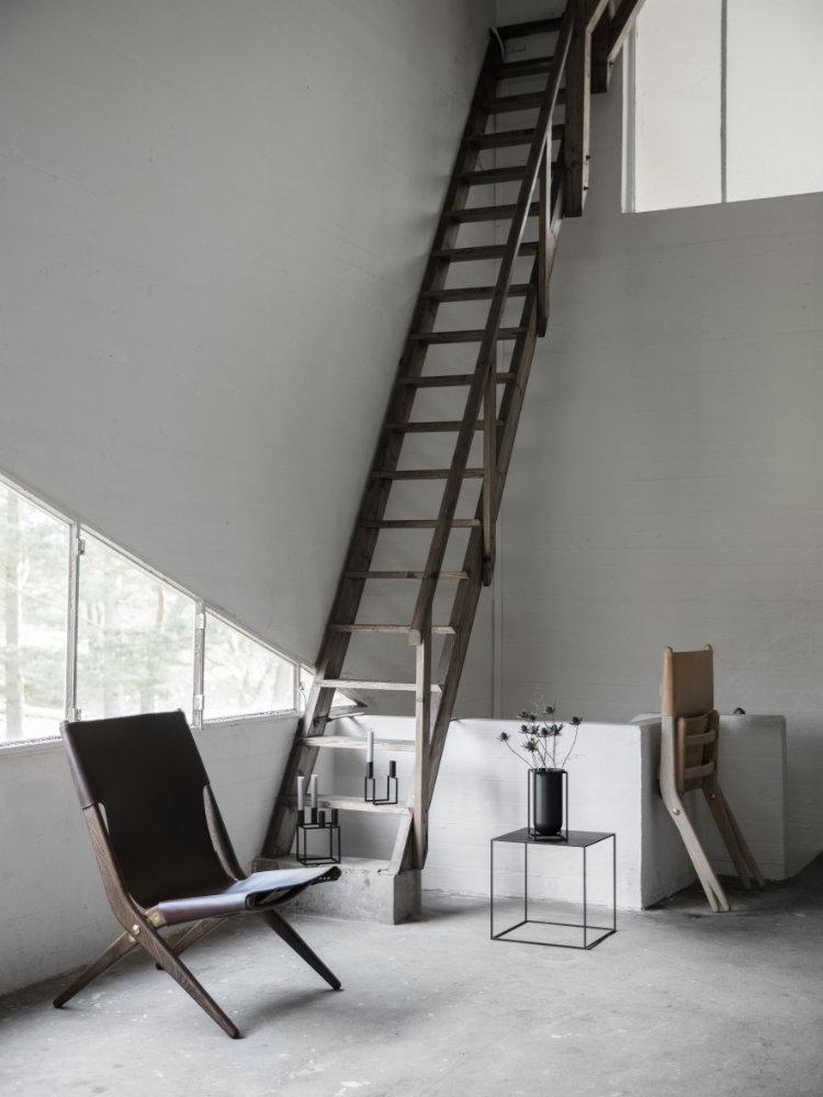 beistelltisch twin 42 schwarz wei eiche von by lassen. Black Bedroom Furniture Sets. Home Design Ideas