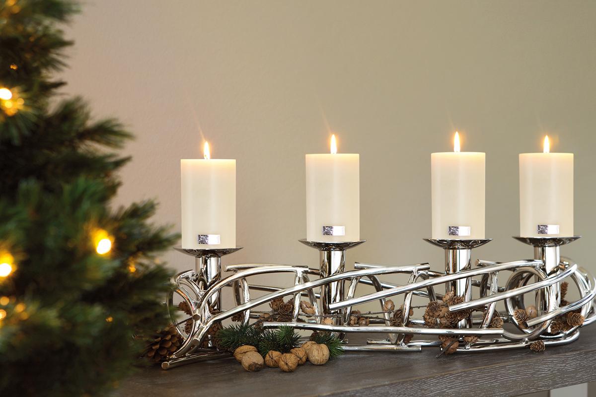 adventskranz corona lang von fink. Black Bedroom Furniture Sets. Home Design Ideas