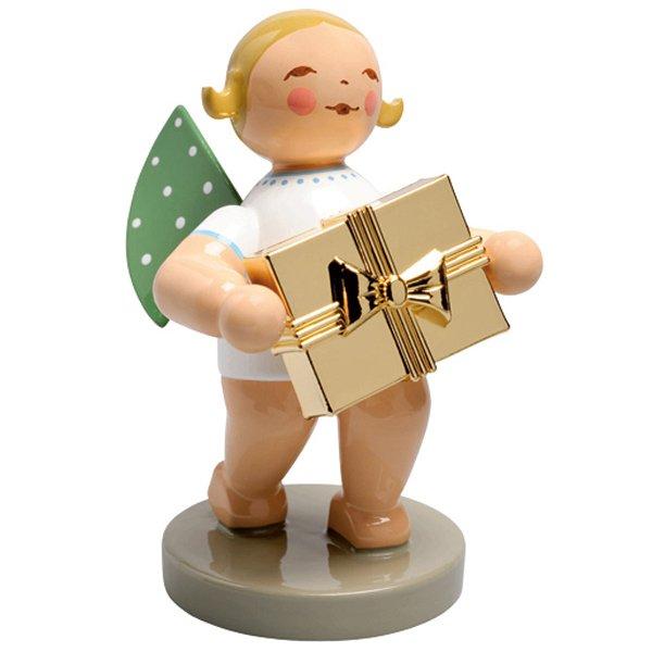 wendt kühn grünhainicher engel mit vergoldetem geschenk eur 30 20