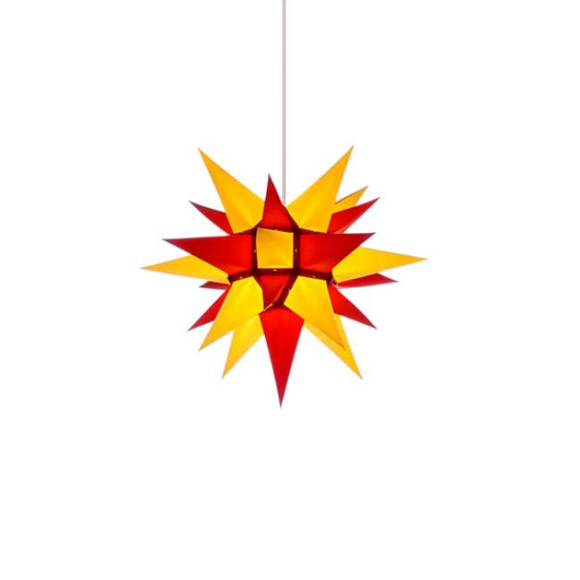 stern i4 papier gelb rot 40cm von herrnhuter. Black Bedroom Furniture Sets. Home Design Ideas