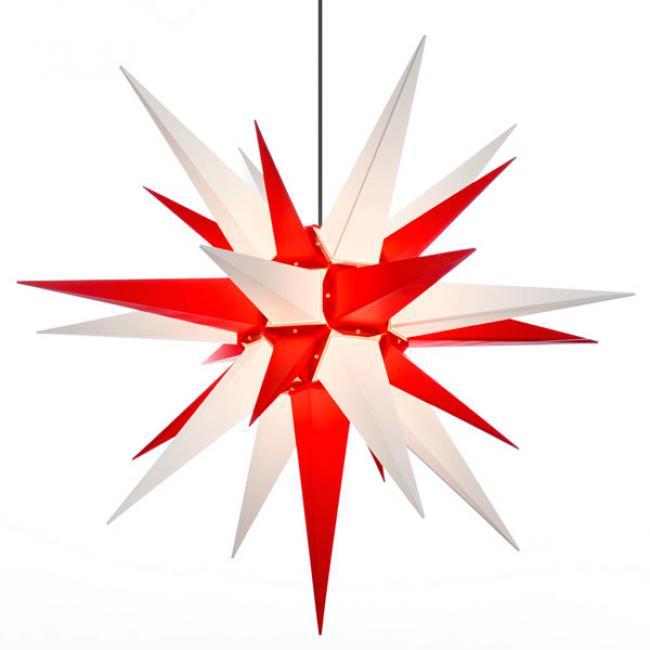 stern a13 kunststoff wei rot 130cm von herrnhuter. Black Bedroom Furniture Sets. Home Design Ideas
