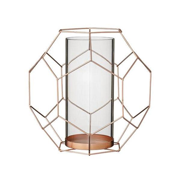 bloomingville teelichthalter mit metallgestell kupfer gro. Black Bedroom Furniture Sets. Home Design Ideas