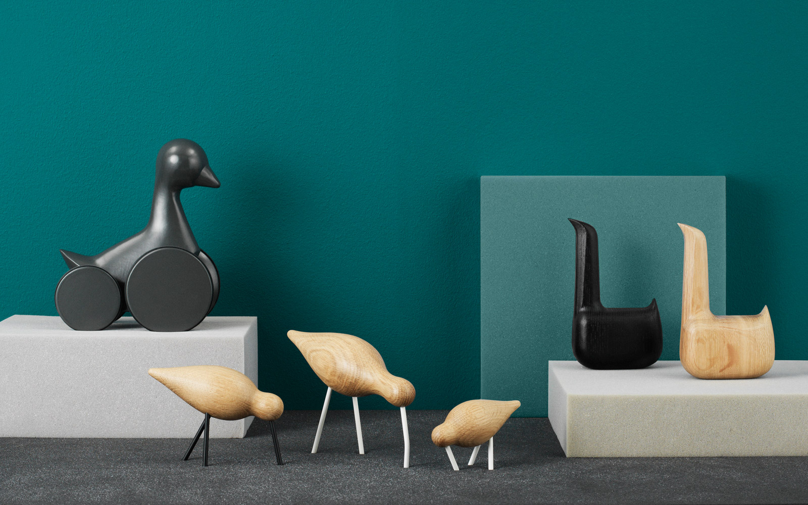 holzvogel shorebird natur schwarz mittel von normann copenhagen. Black Bedroom Furniture Sets. Home Design Ideas