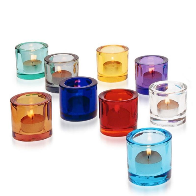 Teelichthalter kivi cranberry rot von iittala Teelichthalter glas bunt