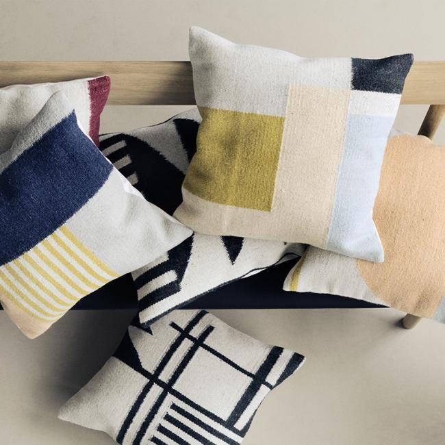 kissen kelim squares von ferm living. Black Bedroom Furniture Sets. Home Design Ideas