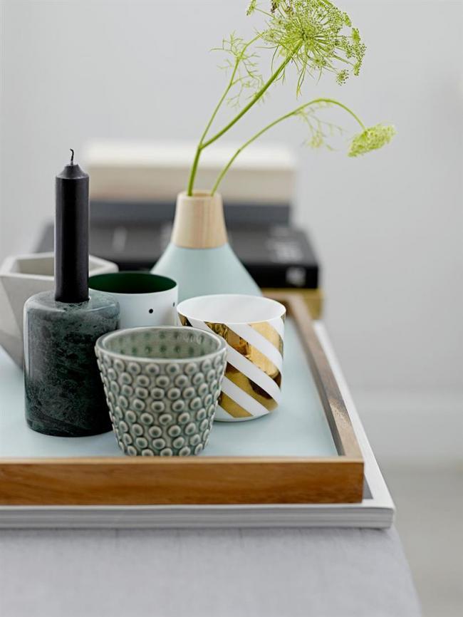 tablett rechteckig blau von bloomingville. Black Bedroom Furniture Sets. Home Design Ideas