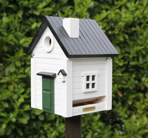 Nistkasten und futterhaus multiholk wei es haus bei erkmann - Modernes vogelhaus ...