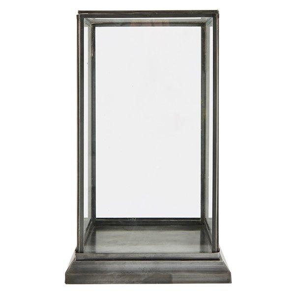 vitrine schaukasten showcase schwarz klein aus eisen und. Black Bedroom Furniture Sets. Home Design Ideas