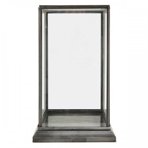 vitrine schaukasten showcase schwarz klein aus eisen und glas house doctor. Black Bedroom Furniture Sets. Home Design Ideas