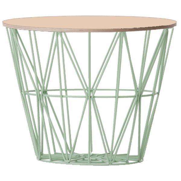 beistelltisch basket mint beige gro von ferm living. Black Bedroom Furniture Sets. Home Design Ideas