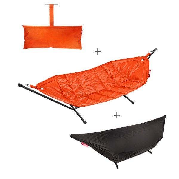 h ngematten set deluxe orange 3 teilig von fatboy. Black Bedroom Furniture Sets. Home Design Ideas