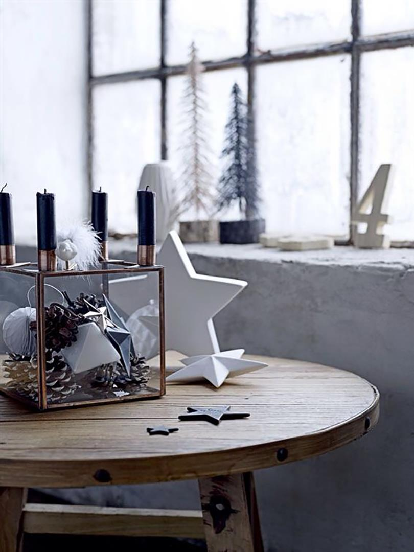 bloomingville kerzenhalter sternform flach. Black Bedroom Furniture Sets. Home Design Ideas