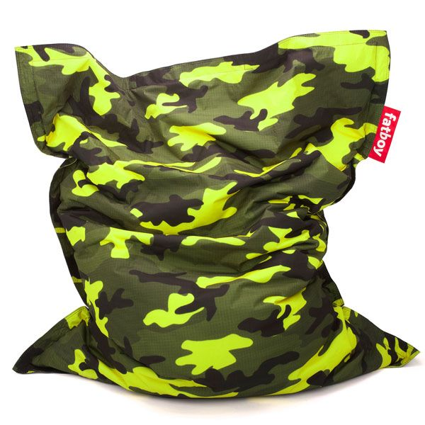 fatboy sitzsack original camouflage gr n. Black Bedroom Furniture Sets. Home Design Ideas