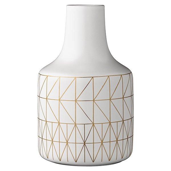 bloomingville vase mit goldenem muster. Black Bedroom Furniture Sets. Home Design Ideas