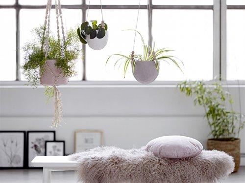 bloomingville blumentopf hanging grau gro. Black Bedroom Furniture Sets. Home Design Ideas