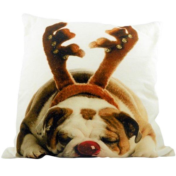 kissen bulldogge weihnachten von mars more bei erkmann. Black Bedroom Furniture Sets. Home Design Ideas