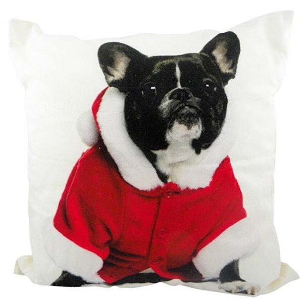 kissen franz sische bulldogge weihnachten von mars more. Black Bedroom Furniture Sets. Home Design Ideas
