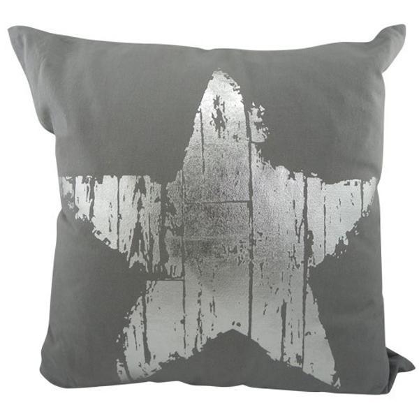 mars more kissen stern silber grau gro. Black Bedroom Furniture Sets. Home Design Ideas