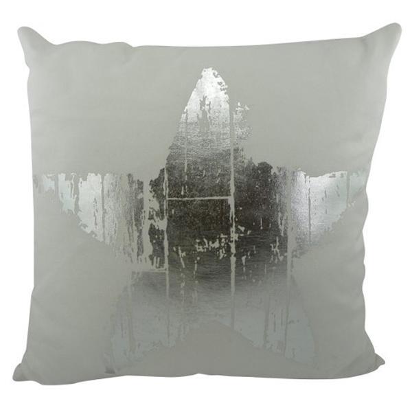 kissen stern silber wei gro von mars more. Black Bedroom Furniture Sets. Home Design Ideas