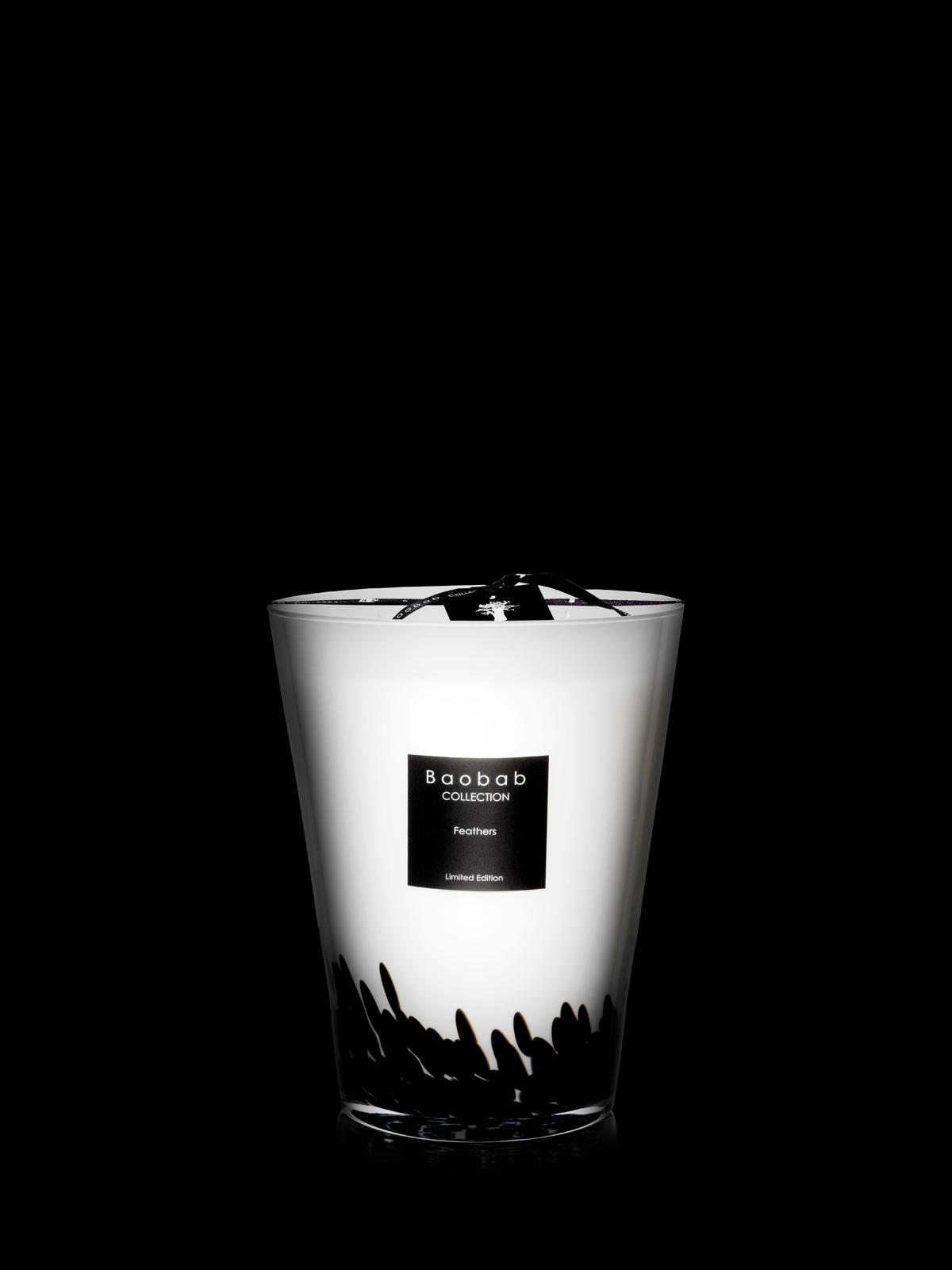 baobab duftkerze feathers black maxi max 7kg eur 405 00 ihr online shop f r. Black Bedroom Furniture Sets. Home Design Ideas