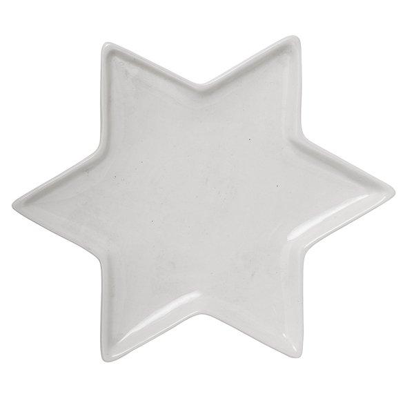 bloomingville deko tablett stern keramik wei flach eur 22 00. Black Bedroom Furniture Sets. Home Design Ideas